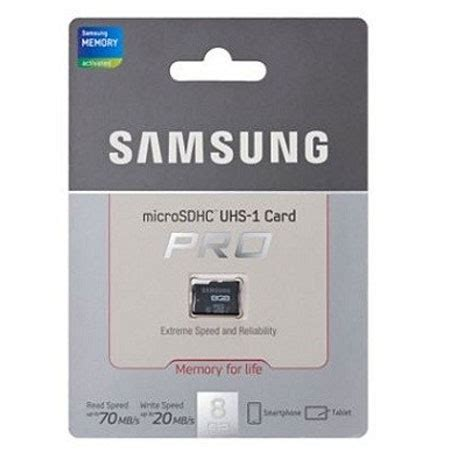Micro Sd Samsung 8gb Class 10 samsung 8gb uhs 1 grade 1 microsdhc pro class 10