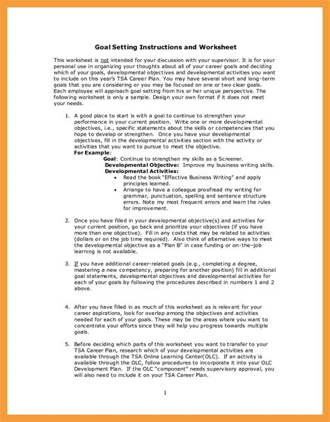 career goal and objective 9 career goals exles resume pdf