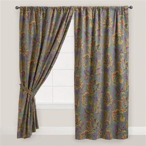 sahara curtains sahara bloom floral tab top curtain world market