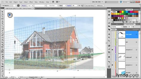 adobe illustrator pattern perspective how to use the perspective grid tool lynda com tutorial