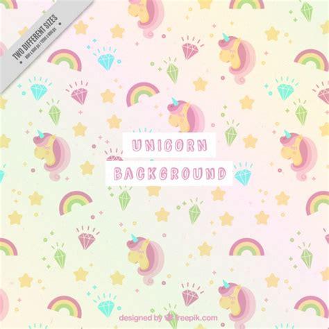 fondo de unicornio feliz brillante descargar vectores gratis fondo adorable de unicornios en tonos suaves descargar