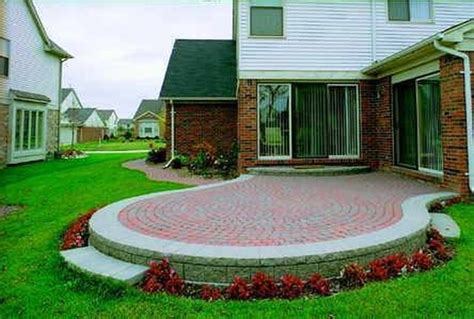 how to build a backyard patio how to build a raised patio out of brick pavers hunker