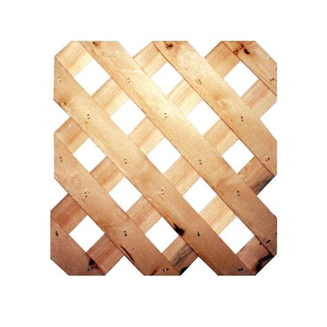 3 4 in x 48 in x 8 ft cedar architectural lattice sp