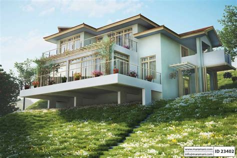 sloping house plans mibhouse com steep slope house plan with 3 bedrooms id 23402