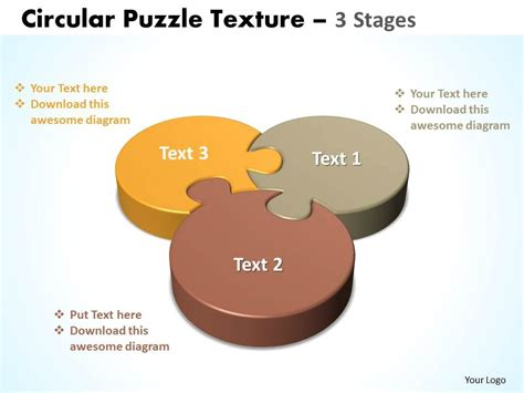 40875373 style division pie jigsaw 3 piece powerpoint