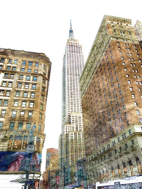 empire state building color empire state building color digital by cac graphics