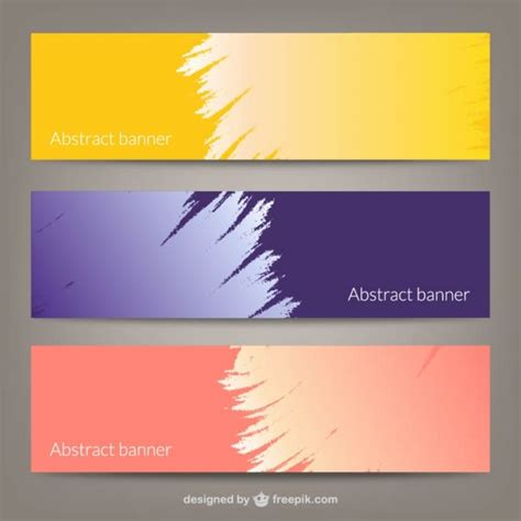 abstract banner templates vector free download