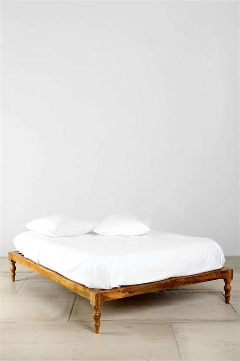 Carved Bed Frames Magical Thinking Bohemian Platform Bed Rustic Bed Frame Crafted From Carved Wood By Magical
