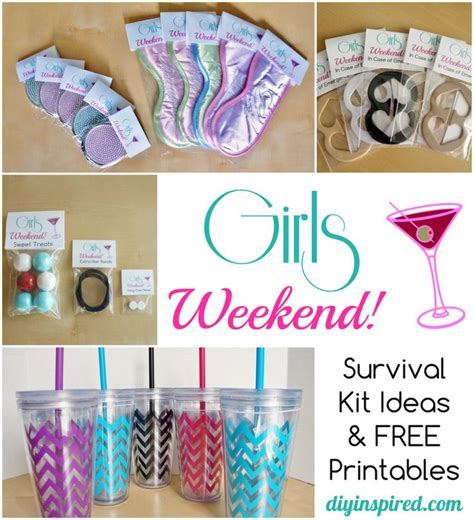 diy bachelorette diy welcome bags weekend survival kit diy
