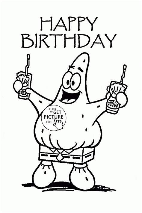happy coloring pages happy birthday coloring page for