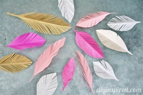 How To Make A Paper Feather - tips on how to make paper feathers diy inspired