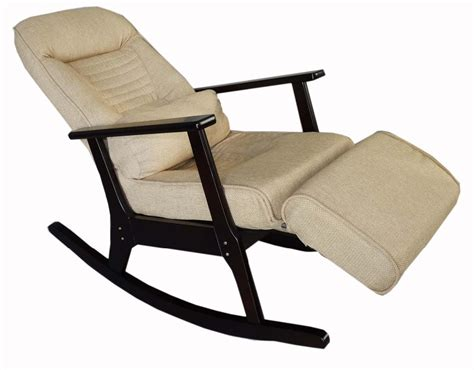 recliner chair with stool aliexpress com buy wooden rocking recliner for elderly