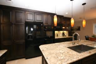 Dark Cherry Kitchen Cabinets Duffy Home A Traditional Cherry Kitchen For A Modern