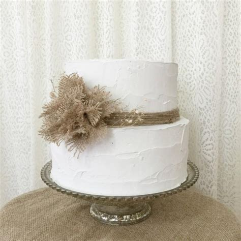 burlap wedding decor ideas burlap inspired country weddin burlap cake topper idea burlap poof flower rustic
