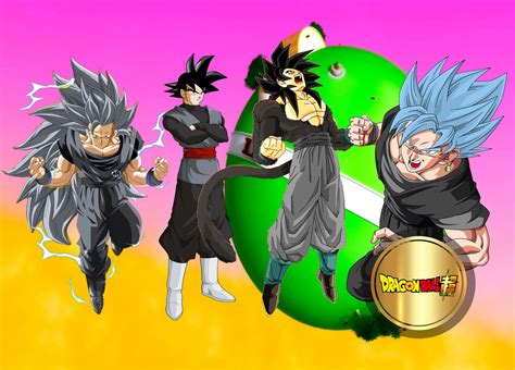 imagenes de goku con todas sus fases as 205 se ver 205 a black goku en todas las fases youtube