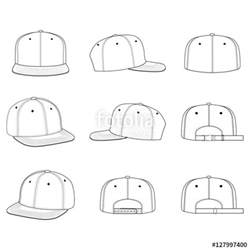 Technical Drawing Templates by Quot Snapback Cap Technical Drawing Flat Sketches Template