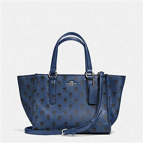Coach Mini Crosby 21 Terracota coach f34774 crosby mini carryall in printed crossgrain leather svdss coach handbags