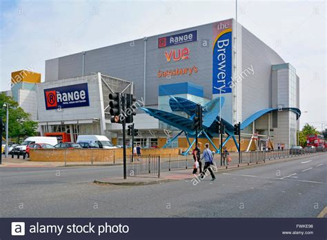 the range store brewery shopping centre including vue cinema the range shop on site stock photo royalty free