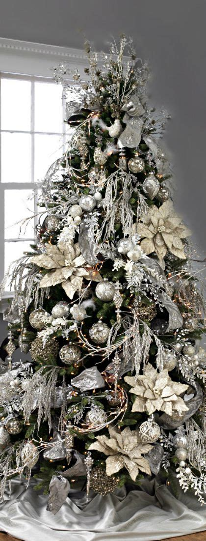 christmas tree silver gold the most wonderful time of