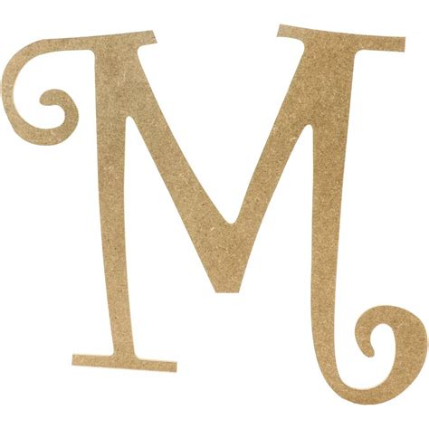"""14"""" Decorative Wooden Curly Letter: M [AB2157 ... M"""