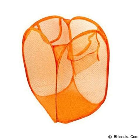 Keranjang Baju Laundry jual lacarla keranjang lipat her baju kotor orange