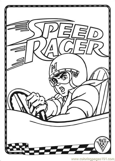 coloring pages speed racer 37 cartoons gt speed racer