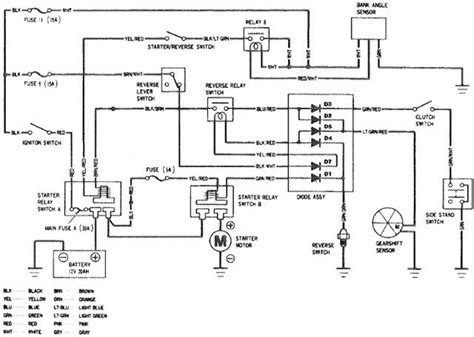 honda goldwing gl1500 starting system circuit circuit