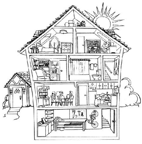 house printable exercises english exercises prepositions of place tefl