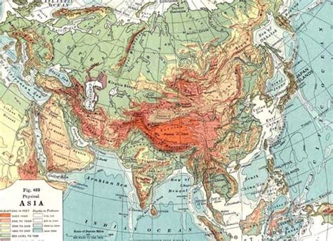 central asia physical map physical map of asia