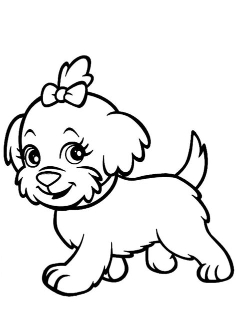 coloring pages of maltese puppies coloring page of a dog coloring pages kids collection