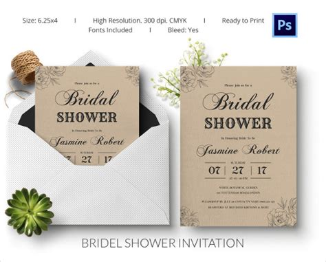 25 Bridal Shower Invitations Templates Psd Invitations Free Premium Templates Free Wedding Shower Invitation Template