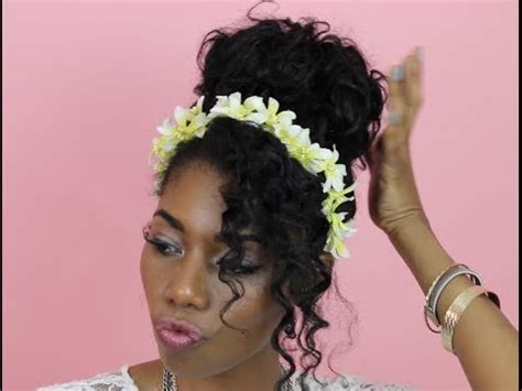 ways to wear short curly hair 6 ways to wear floral headbands style inspiration youtube