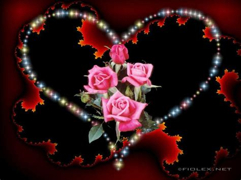 wallpaper glitter love rose glitter graphics roses fiolex free image gallery