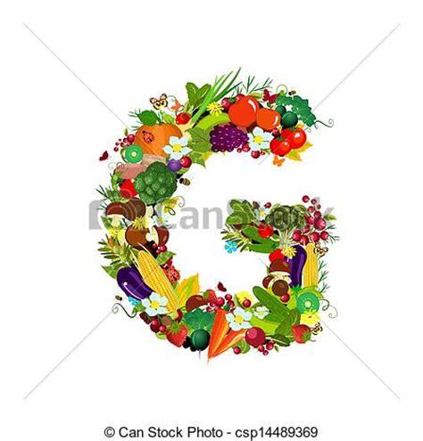 g fruit clip vecteur de l 233 gumes frais lettre g fruits