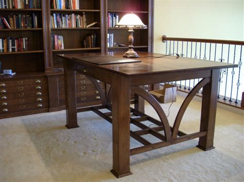 qsawn white oak library table