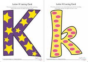 Letter K Lacing Card
