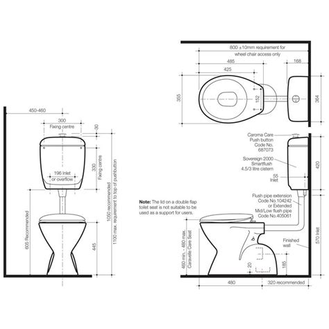 disabled toilet specifications benton s finer bathrooms caroma cosmo sovereign care