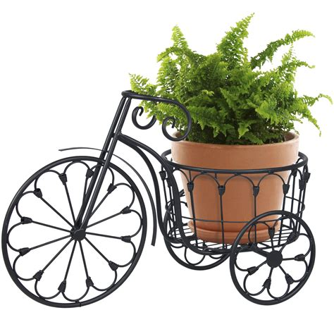 patio mini garden bicycle planter home decor iron plant