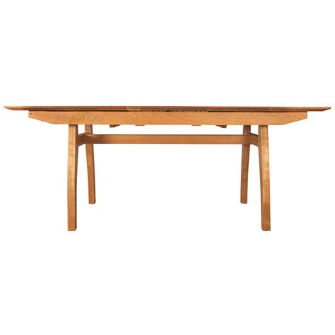 Modern Trestle Dining Table Vermont Made Modern Trestle Extension Table Solid Wood Dining Furniture