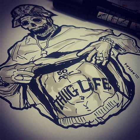 sketchnkustom 2pac 2pac makaveli outlawz thuglife