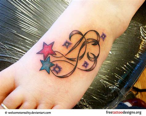 star foot tattoos designs foot gallery