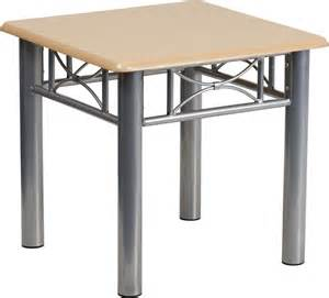 end table with silver steel frame available in 2 colors