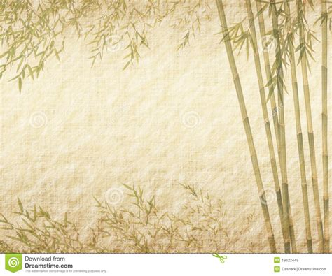 Paper From Bamboo - silhouette of branches of bamboo on paper backgr royalty