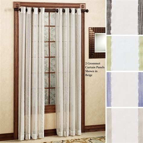 sheer curtains with grommets rococo semi sheer grommet curtain panels