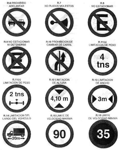imagenes de simbolos que indiquen reglas decreto 779 95 anexo l figuras senales de transito