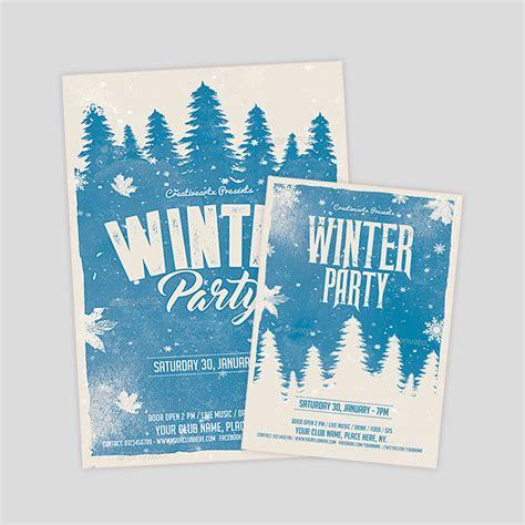 Neoxica 10 Best Winter Flyer Design Templates Winter Flyer Template