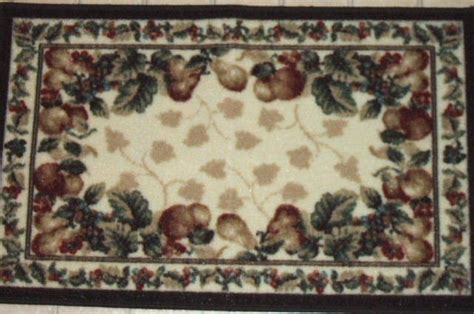 Shaw Fruit Kitchen Rug Grapes Apples Pears