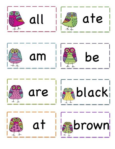 owls primer sight words printable preschool printables