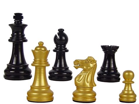 chess set pieces wood chess set pieces empire staunton king size 3 quot gold black color