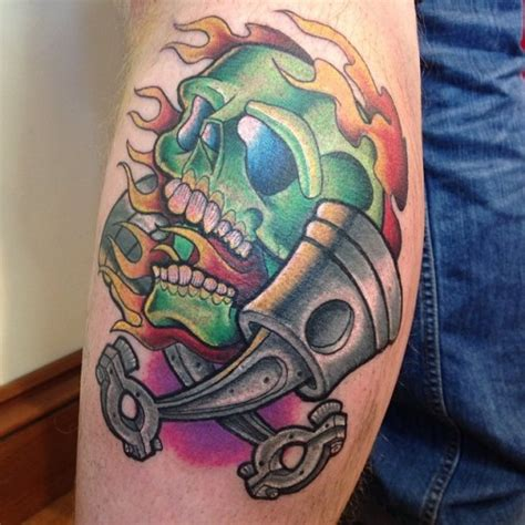 skull and piston tattoos skull pistons best ideas gallery